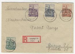 SBZ West Sachsen Michel No. 162 - 165 B X auf Brief