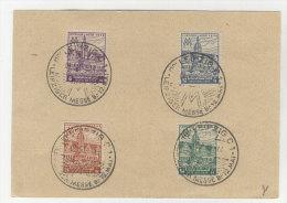 SBZ West Sachsen Michel No. 162 - 165 A Y auf Karte FDC