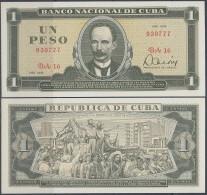 1979-BK-1 CUBA 1$ JOSE MARTI UNC PLANCHA 1979 - Cuba