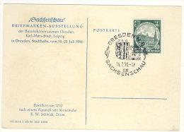 DDR Michel No. 524 auf Karte Sachsenschau