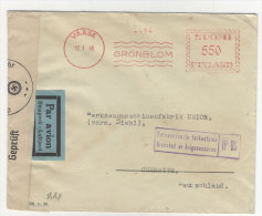 Finnland Brief Freistempel 1940
