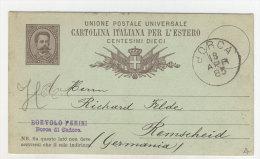Italien Ganzsache gebraucht 1885