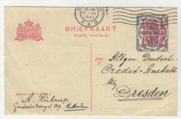 Niederlande Ganzsache gebraucht 1921