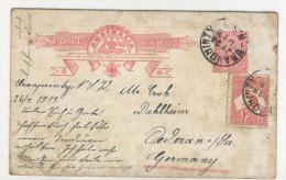 Australien Ganzsache gebaucht 1913