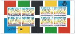 FRANCE - Emission Commune Avec L'Espagne -  Jeux Olympiques De 1992 - 2 Scans - France