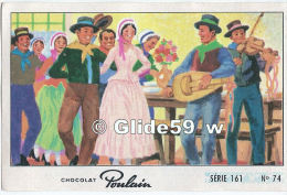 Chromo - Chocolat Poulain - Série 161 - N° 74 - Album N° 7 - Les Fiancés D´Auvergne - Poulain