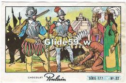 Chromo - Chocolat Poulain - Série 177 - N° 32 - Album N° 8 - Les Aventuriers - Poulain