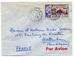 Serie  10eme Anniversaire De La Libération Seul Sur Lettre De TANANARIVE Madagascar / 7 Oct 1955 Pour La France - 1946 Tchad Au Rhin