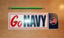 Vintage 70's Go Navy BM Sticker Decal - Autocollants