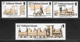 "Falkland Islands      ""Camber Railway""     Set    SC# 416-19    MNH** - Falkland Islands"