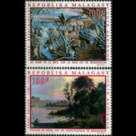 MALAGASY 1969 - Scott# C93-4 Paintings Set of 2 MNH (XN304)