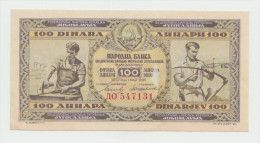 Yugoslavia 100 Dinara 1946 AUNC Pick 65a - Yougoslavie
