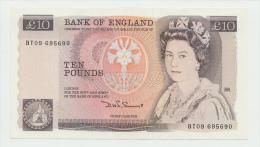 Great Britain 10 Pounds ND (1984 - 1986) XF+ Pick 379c - 1952-… : Elizabeth II
