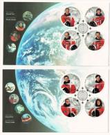 2003   Canadian Astronauts  Sc 1999a-h  From Souvenir Sheet On 2 FDCs - Ersttagsbelege (FDC)