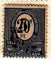 Upper Silesia 1920 Pf Ovpt Fi10 Type Ia/Ia Inverted/double Mint Hinged Signed Haertel - Abstimmungsgebiete