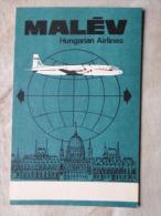 Hungary MALEV Airline   QLS Card  -  Radio - Budapest   D123926 - QSL-Kaarten