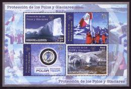PERU 2009, IPY International Polar Year - Preserve The Polar Regions And Glaciers Minisheet** - Preservare Le Regioni Polari E Ghiacciai