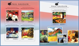 gu14519ab Guinea 2014 Painting Paul Gauguin 2 s/s