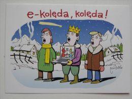 Christmas Postcard / Santa Claus /  Humor, Satire, Carol - Non Classificati