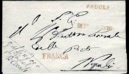 """Padula-00546 - Piego Senza Testo - Reca, Contemporaneamente, Le Impronte Dei Bolli """"FRANCA"""" E """"DI R. SERVIZIO"""" - - Italia"""