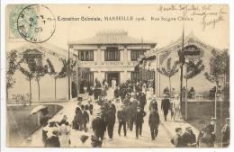 13 - Exposition Coloniale MARSEILLE 1906 - Rue De Saïgon Cholen - éd. J.C. N° 25 - 1906 - Colonial Exhibitions 1906 - 1922