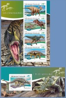 tg14709ab Togo 2014 Dinosaurs 2 s/s