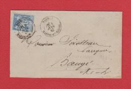 Bordereau De Banque  De Saumur   //  Pour Baugé  //  8 Juin 1882 - Marcophilie (Lettres)
