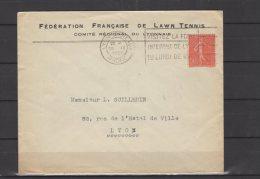 69 - Lyon - Fédération Française De Lawn Tennis - 1932 - Postmark Collection (Covers)