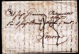 Palmi 00551a - Piego Con Testo Del 27 Marzo 1824 - - 1. ...-1850 Prefilatelia