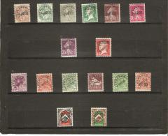 TIMBRES  POSTE AFFRANCHIES POSTES  N° 1 *   à   16 ** - Algeria (1924-1962)