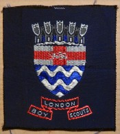 Patch à Coudre écusson Des Boy Scouts Anglais De Londres - London UK - Padvinderij