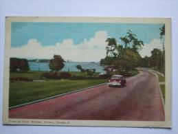 CANADA RIVERSIDE DRIVE WINDSOR ONTARIO 1950`S - Windsor