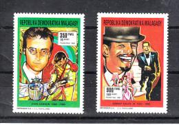 Madagascar   -   1991.  John Lennon  E  Sammy Davis Junior.  Complete MNH Set - Cantanti