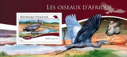 tg14701b Togo 2014 Birds s/s Balaeniceps rex Crane