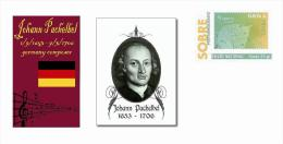 Spain 2013 - History Of Classical Music - Johann Pachelbel Special Prepaid Cover - Musica