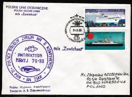 "ANTARCTIC,POLAND,Expediti On With MS""ZAWICHOST"",Mirny 4.1.1980,  4 Cachets ,look Scan !! 27.1-115 - Antarctische Expedities"
