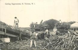 W.I  ILES VIERGES - ST SAINT THOMAS - Carting Sugarcannes - Canne à Sucre - 526 - Jungferninseln, Amerik.
