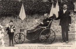 Pierre Barré,ex-Forain,paralysé à L'âge De 37 Ans;Baptiste Souque,ex-Employé De Commerce,aveugle.Tour De France à Pied - Handisport