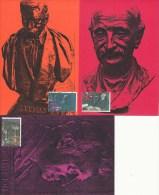 D19602 - 3 CARTES MAXIMUM CARDS FD 1991 NETHERLANDS - 3 DUTCH NOBEL PRIZE WINNERS - NO LINING CP ORIGINAL - Nobel Prize Laureates