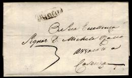 Paola 00556a - Piego Da Scalea Il 15 Dicembre 1835 (con Testo) - - 1. ...-1850 Prefilatelia