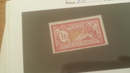 LOT 243023 TIMBRE DE FRANCE NEUF* N�119 VALEUR 16 EUROS