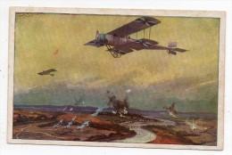 Cpa - Hans Rudolf Schulze - Militärdoppeldecker Auf Erkundungsflug An Der Marne Ww1 - Deutcher Luftflotten Verein - Schulze, Hans Rudolf