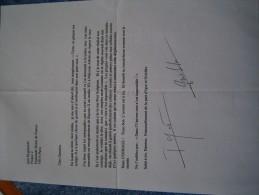 FRERES BOGDANOFF   LETTRE SIGNEE - Autographes