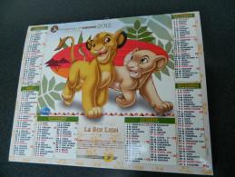 Calendrier 2012 - DISNEY - Le Livre De La Jungle - Le Roi Lion - J. CARTIER BRESSON - M18 - Grand Format : 2001-...