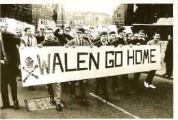 """BELGIQUE (1968) : Manifestation Pour Le Départ Des Francophones De Louvain. CARTE 166 DES ARCHIVES DU """"SOIR"""" (2005). - Manifestations"""