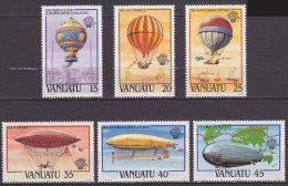 Série De 6 TP Neufs ** N° 676/681(Yvert) Vanuatu 1983 - Aviation, Ascensions De L'homme Dans L'atmosphère - Vanuatu (1980-...)