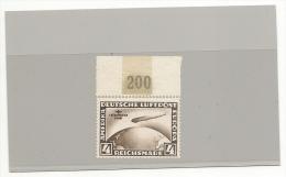 Allemagne (Zeppelin ) Sudamerika Farth N° Yvert 39 ** Sans Charniére Signé Scheller , Luxe Trés Beau Timbres - Airmail