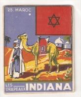 VENTE DIRECTE: MAROC + Drapeau - Chromo INDIANA - Marokko