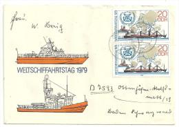 Deutschland DDR 1979 Mi 2405 2x Auf Brief - Siehe Scan - FDC Gaschwitz 20.3.1979. Sc 1993 / YT 2072 - DDR