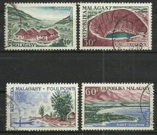 MADAGASCAR 1962 - TOURISM - CPL. SET - USED OBLITERE GESTEMPELT USADO